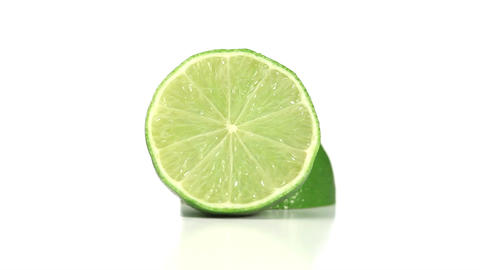 Halved lime rotating Footage