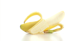 Open banana rotating Footage