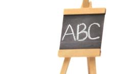 Letters ABC written on a blackboard Stock Video Footage