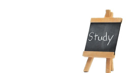 Word Study written on a blackboard Stock Video Footage