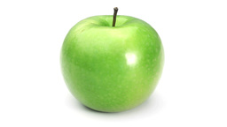 Green apple rotating Stock Video Footage
