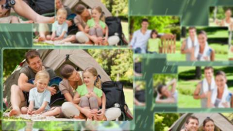 Montage of people enjoying leisure time Animation