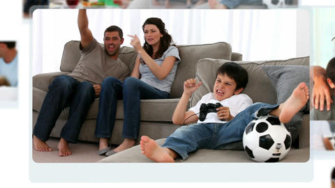 Montage of families having fun together Animation