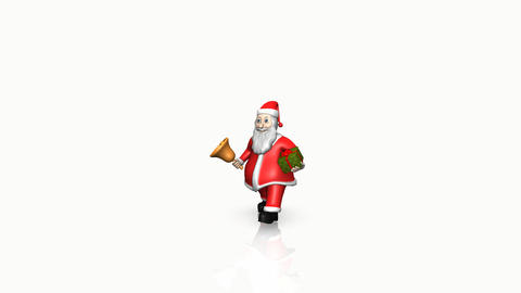 Animation Of Santa Claus With Present stock footage