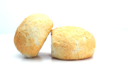 White bread rolls rotating Footage