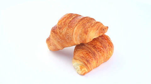 Croissants Rotating stock footage