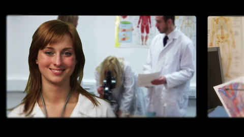 Montage of doctors and nurses Animation