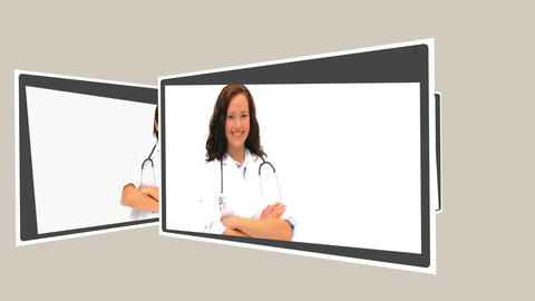 Montage of nurses, doctors, and surgeons Stock Video Footage