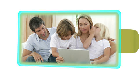 Montage of families spending time together Stock Video Footage