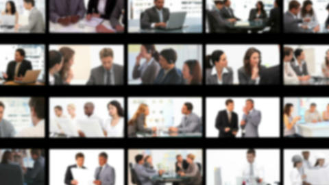 Montage of business people working Stock Video Footage