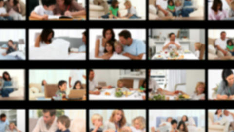 Montage of a cute family spending time together Stock Video Footage