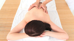 Brunette having a massage Stock Video Footage