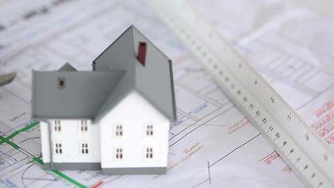 House model raised on plans Footage
