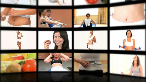 Montage of people playing sport Stock Video Footage