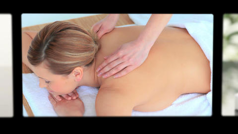 Montage Of Women Having Spa Treatment stock footage