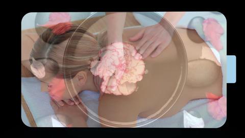 Montage of women enjoying their treatment Stock Video Footage