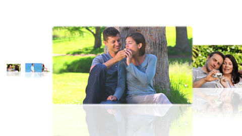 Montage of delighted couples Animation