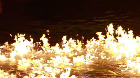 0021 Water on Fire Stock Video Footage