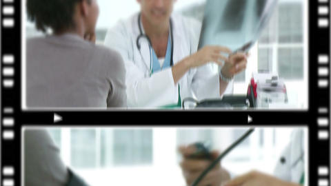 Montage of several situations in a hospital Stock Video Footage