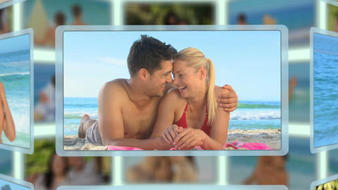 Montage of couples sharing and enjoying different kinds of moments together Animation