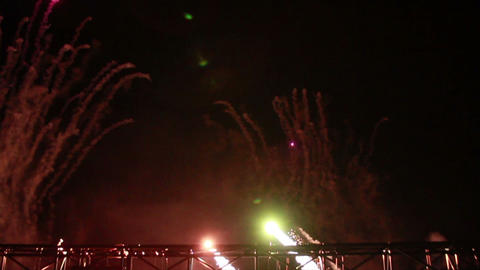 0024 Fireworks in Slowmotion Footage