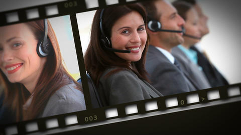 Montage of businesswomen on the phone Animation