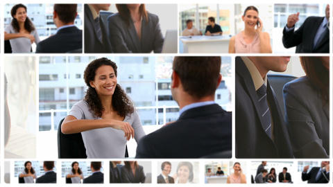 Montage of communicating business people Animation