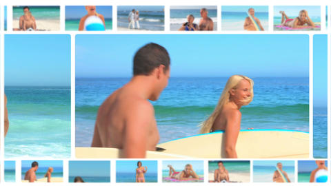 Montage of lovely couples sharing moments together Stock Video Footage
