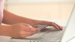 Feminine hands shopping online Footage