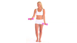 Fit woman lifting weight Stock Video Footage
