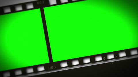 Montage of green film strip Animation