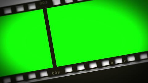 Montage of green film strip Animation