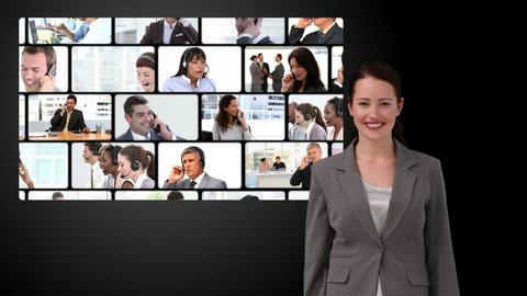 Montage of business communication Animation