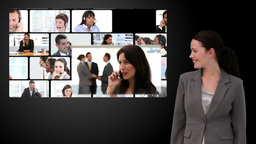 Montage of business communication Stock Video Footage