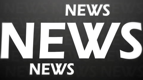 News animation Stock Video Footage