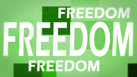 Freedom animation Stock Video Footage