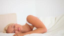 Sleeping woman Footage