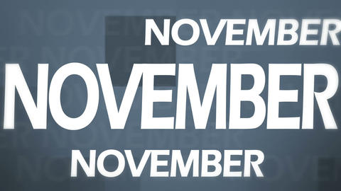 3d November Animation Stock Video Footage