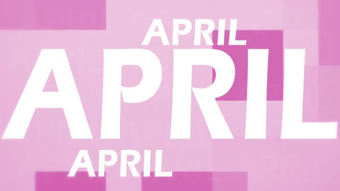 April animation Stock Video Footage