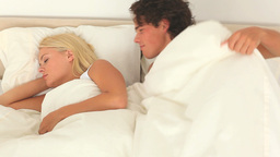 Confident couple sleeping Footage