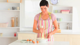 Cute woman baking Stock Video Footage