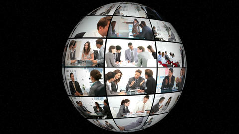 3D Animation on Businesspeople Stock Video Footage