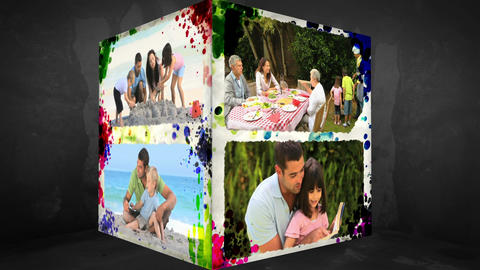 3D AnimationCube of Family Holidays Animation