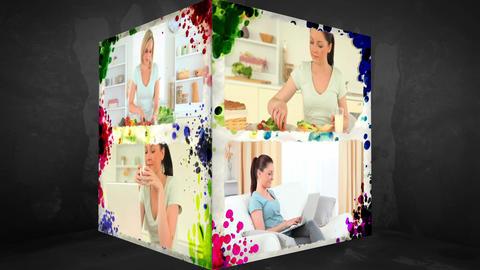 3D AnimationCube of Women Animation