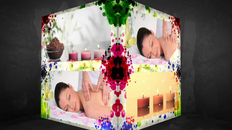 3D AnimationCube of Wellness Treatments Stock Video Footage