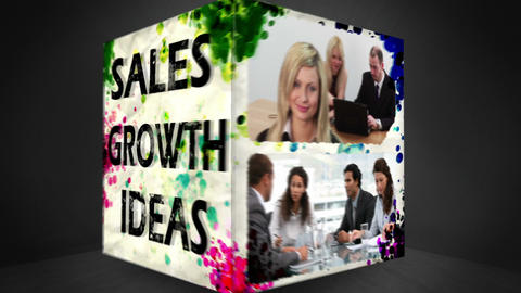 3D Animation Of Businessconcepts stock footage