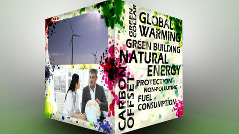3D Animation of green Energy Stock Video Footage