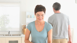 Couple preparing dinner together Stock Video Footage