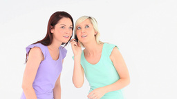 Charming women with a phone Footage