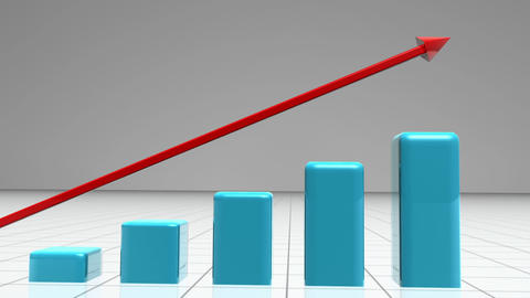 Animated graphic showing growth Stock Video Footage